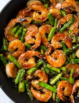 Teriyaki Shrimp and Asparagus