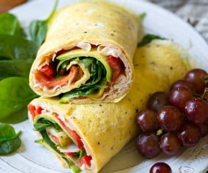 Turkey Avocado Egg Wrap