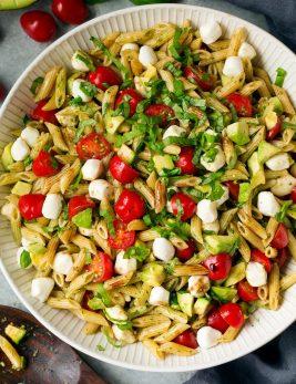 Avocado Caprese Pasta Salad