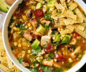 Grilled Chicken Tortilla Soup