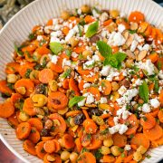 Moroccan Carrot Chick Pea Salad