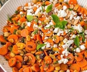 Moroccan Carrot Chick Pea Salad