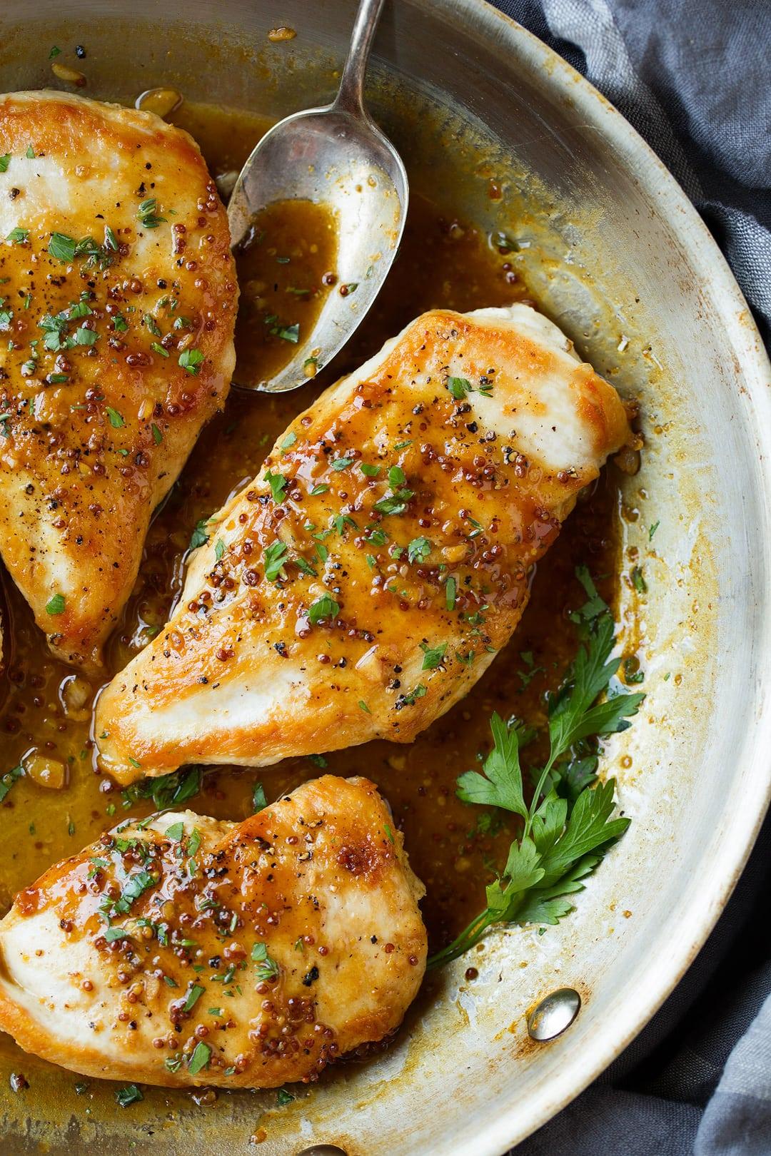 Maple Mustard Skillet Chicken