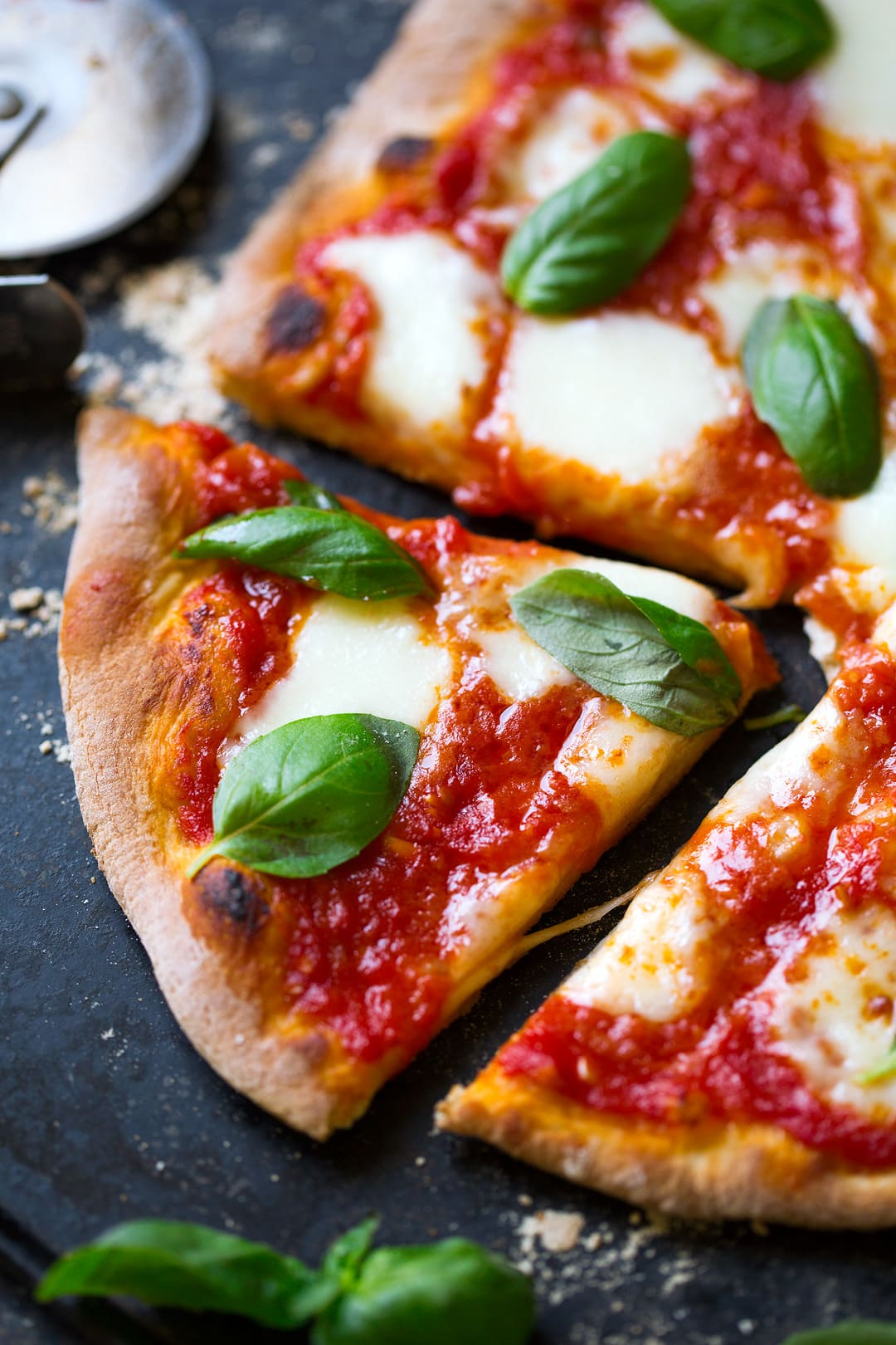 sliced Margherita Pizza