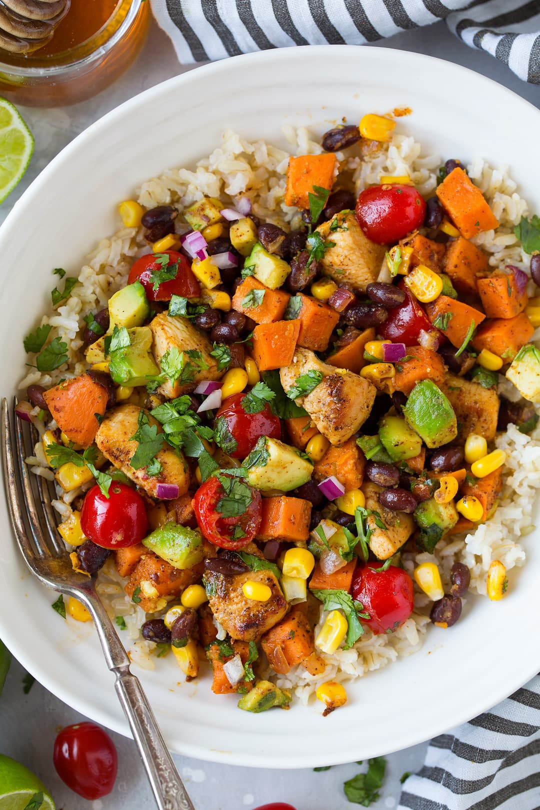 Mexican Honey Lime Chicken Sweet Potato Skillet Recipe