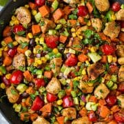 Mexican Honey Lime Chicken Sweet Potato Skillet