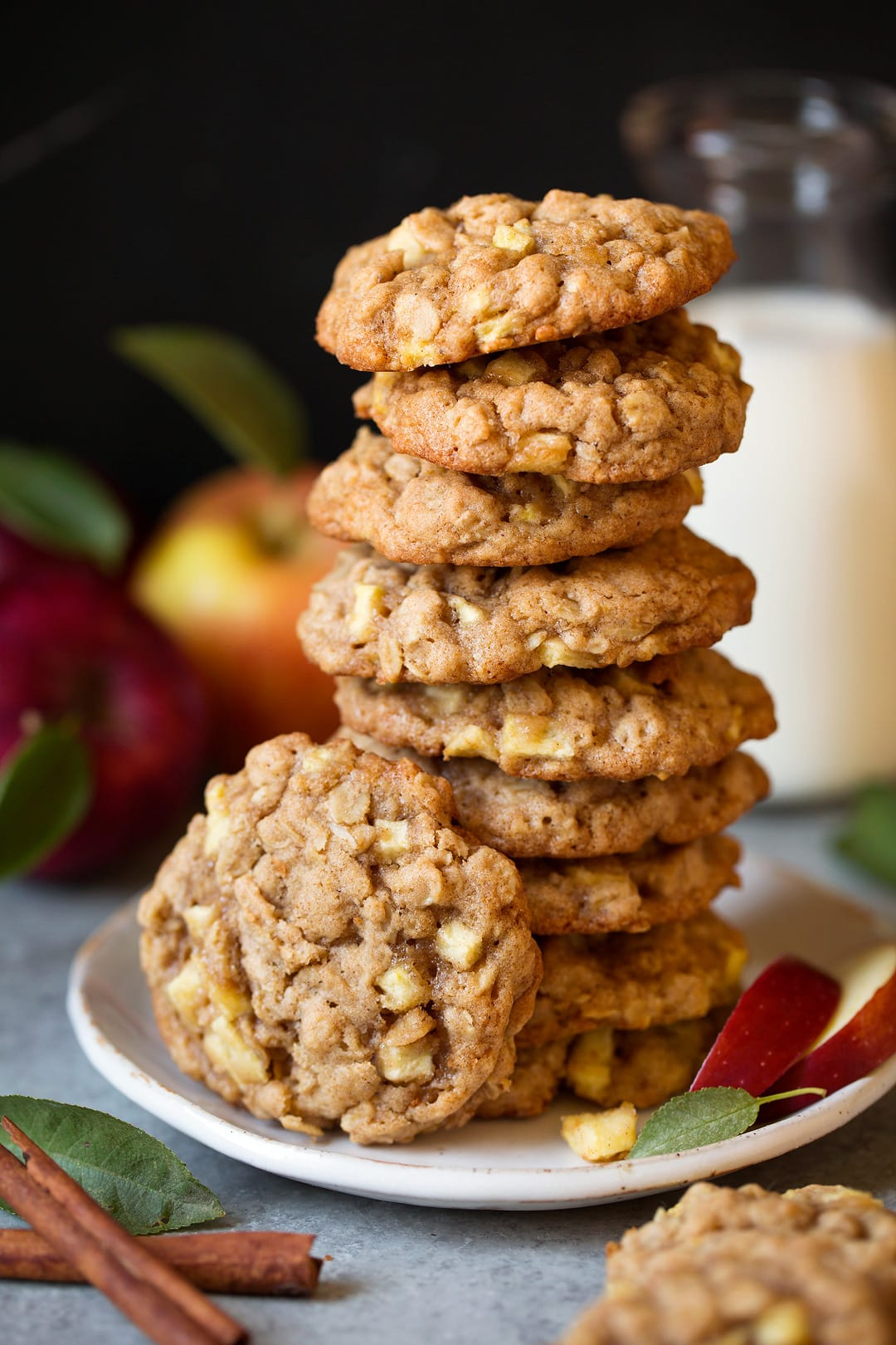 Apple Cinnamon Oatmeal Cookies - Cooking Classy