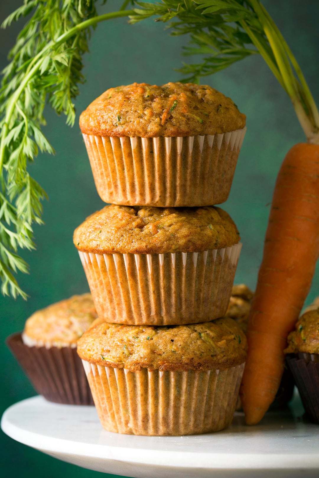 Muffins with Zucchini Carrots and Spices