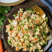 One Pan Creamy Chicken and Rice