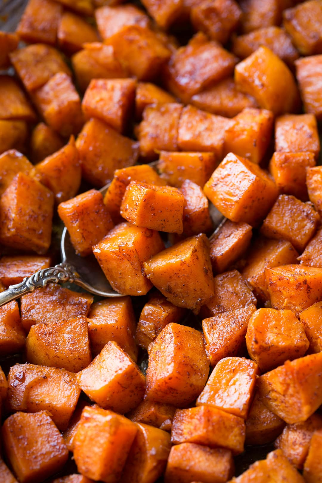 Roasted Sweet Potatoes with Cinnamon and Honey Butter