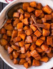 Cinnamon Honey Butter Roasted Sweet Potatoes