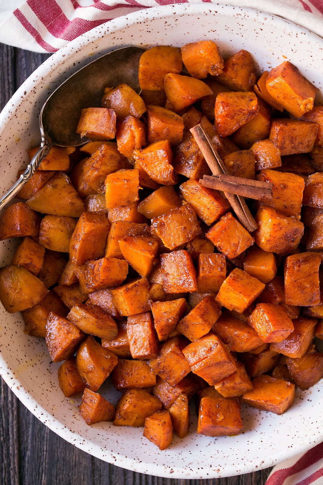 Roasted Sweet Potatoes With Cinnamon And Honey Butter Cooking Classy
