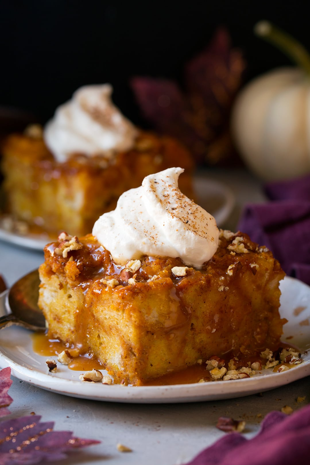 Pumpkin Bread Pudding - Cooking Classy