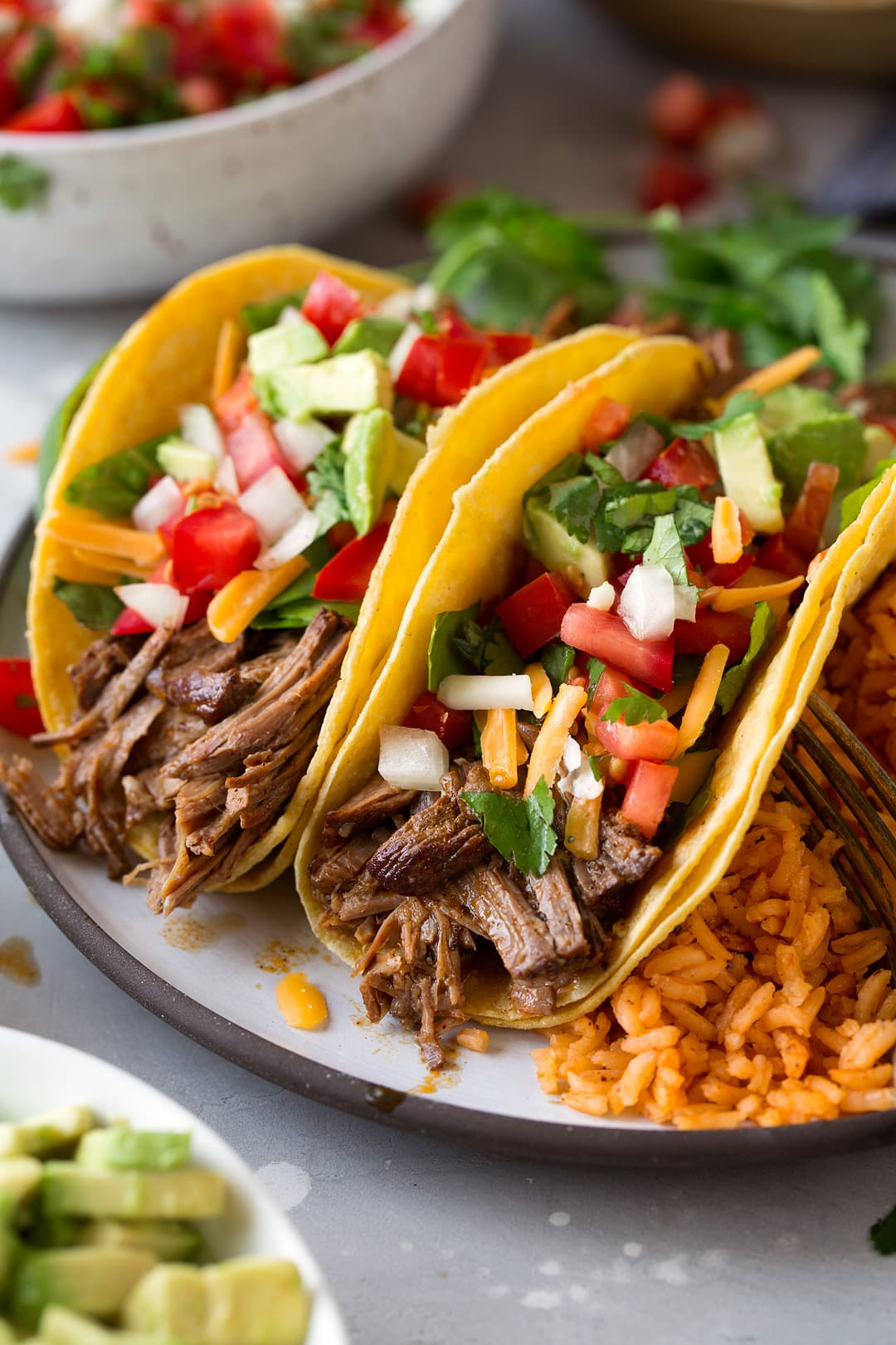graphic about Fuzzy's Tacos Printable Menu identified as Gradual Cooker Shredded Beef Tacos - Cooking Cly
