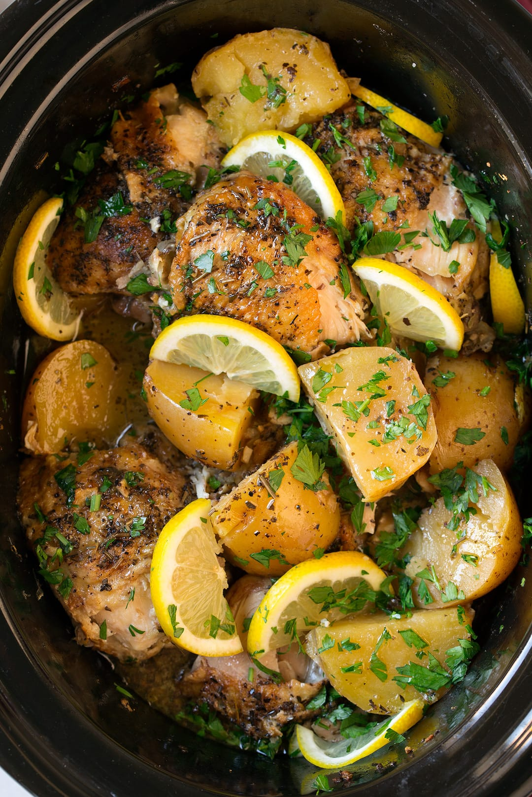 Greek Slow Cooker Lemon Chicken And Potatoes Cooking Classy