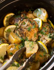 Slow Cooker Greek Lemon Chicken and Potatoes