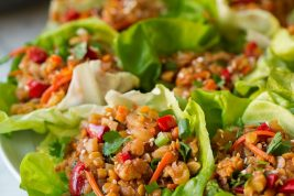 Asian Lentil Lettuce Wraps