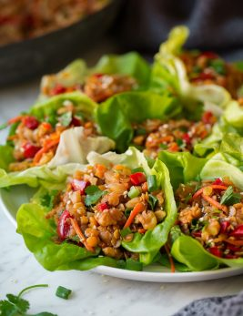 Asian Lentil Lettuce Wraps