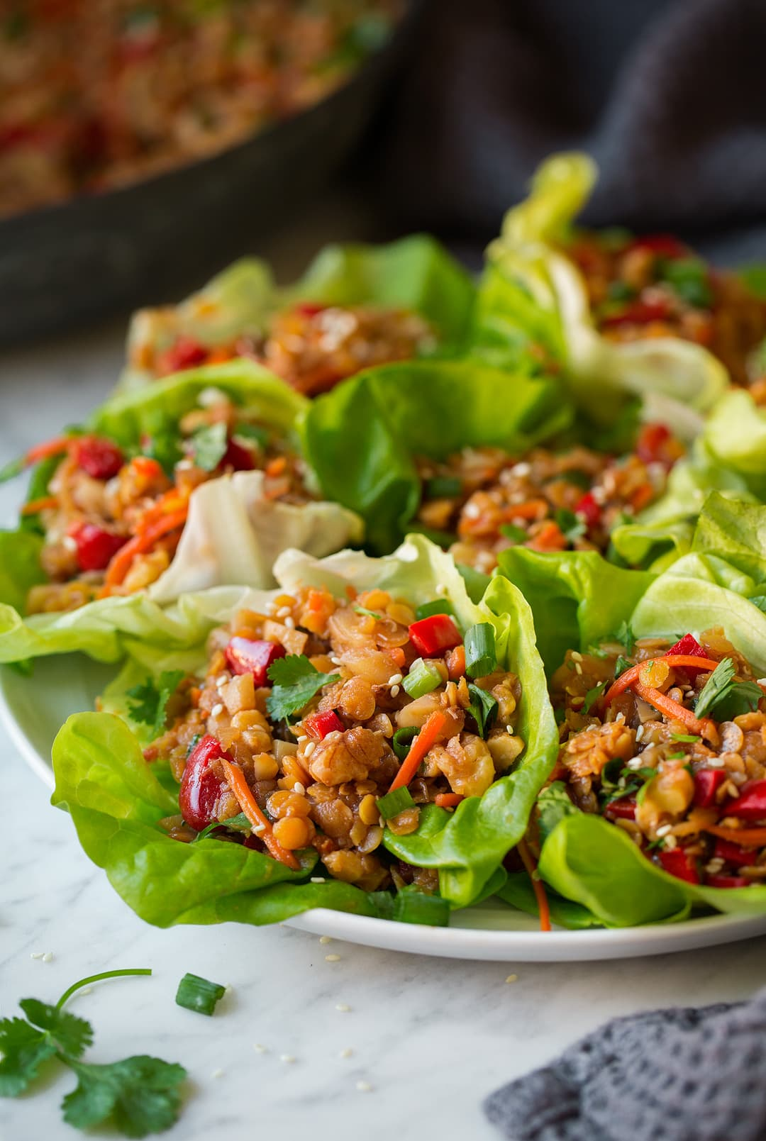 Lettuce Wraps with Lentils
