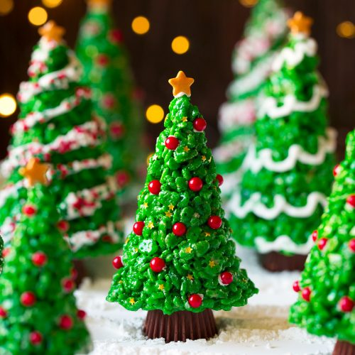 christmas tree rice krispies treats cooking classy