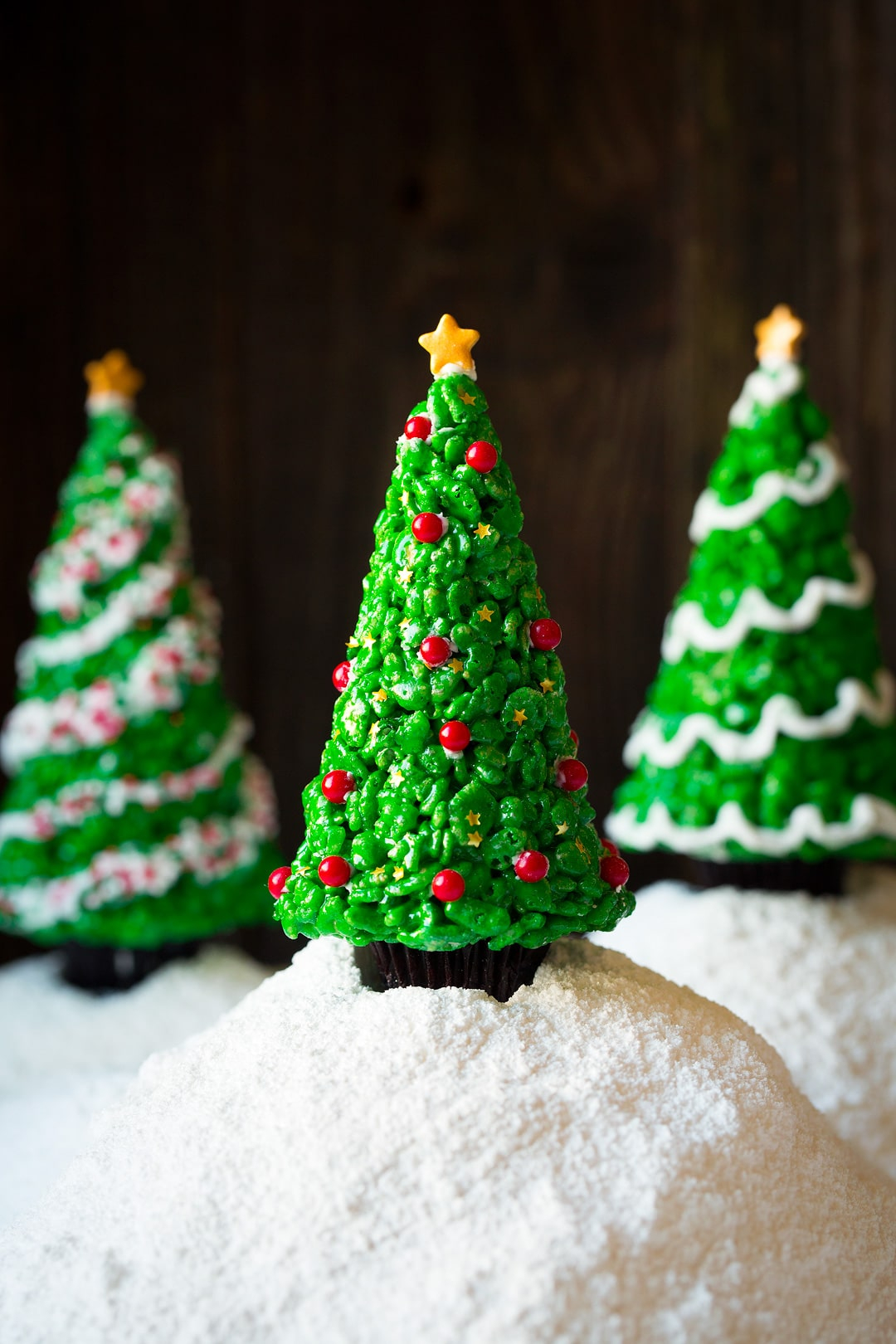 Christmas Tree Rice Krispies Treats - Cooking Classy