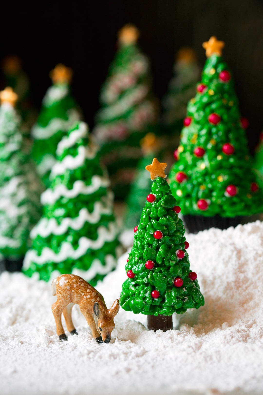 christmas tree rice krispies treats