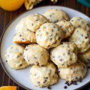 Orange Chocolate Chip Ricotta Cookies