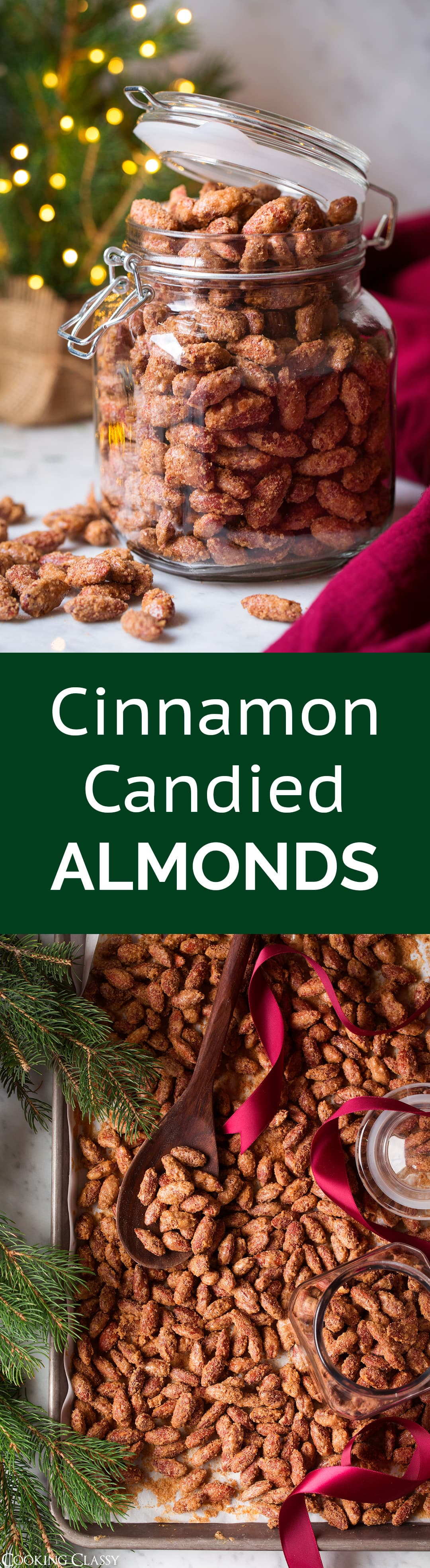 Cinnamon Candied Almonds - these are are one of the best holiday treats! I've been making these for years and once you try them you'll see why! #christmastreat #christmasgift #almonds #cinnamonalmonds #candiedalmonds