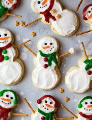 Lofthouse Style Snowman Sugar Cookies