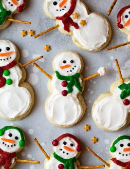 Lofthouse Style Snowman Sugar Cookies