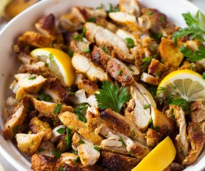 Oven Roasted Chicken Shawarma