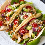 Oven Roasted Chicken Tacos