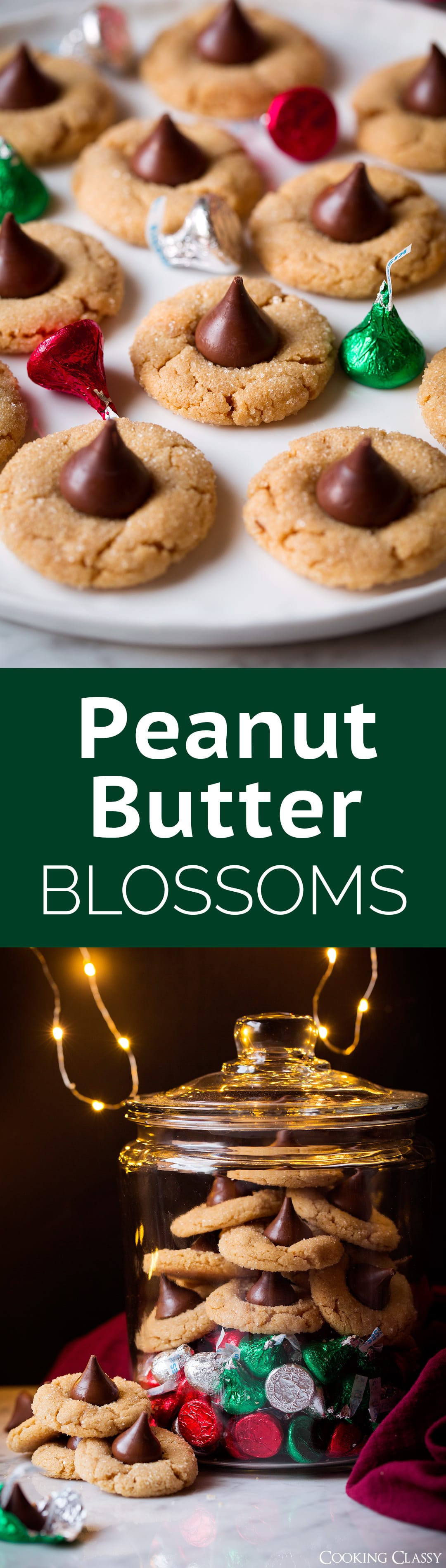 Peanut Butter Blossoms - a holiday MUST! Soft and tender and perfectly peanut buttery! Plus isn't that milk chocolate and peanut butter combo just dreamy?