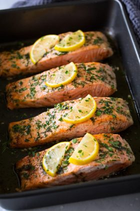Salmon Roasted in Butter