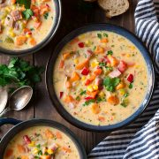 Sweet Potato Ham and Corn Chowder