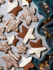 White Chocolate Gingerbread Star Cookies