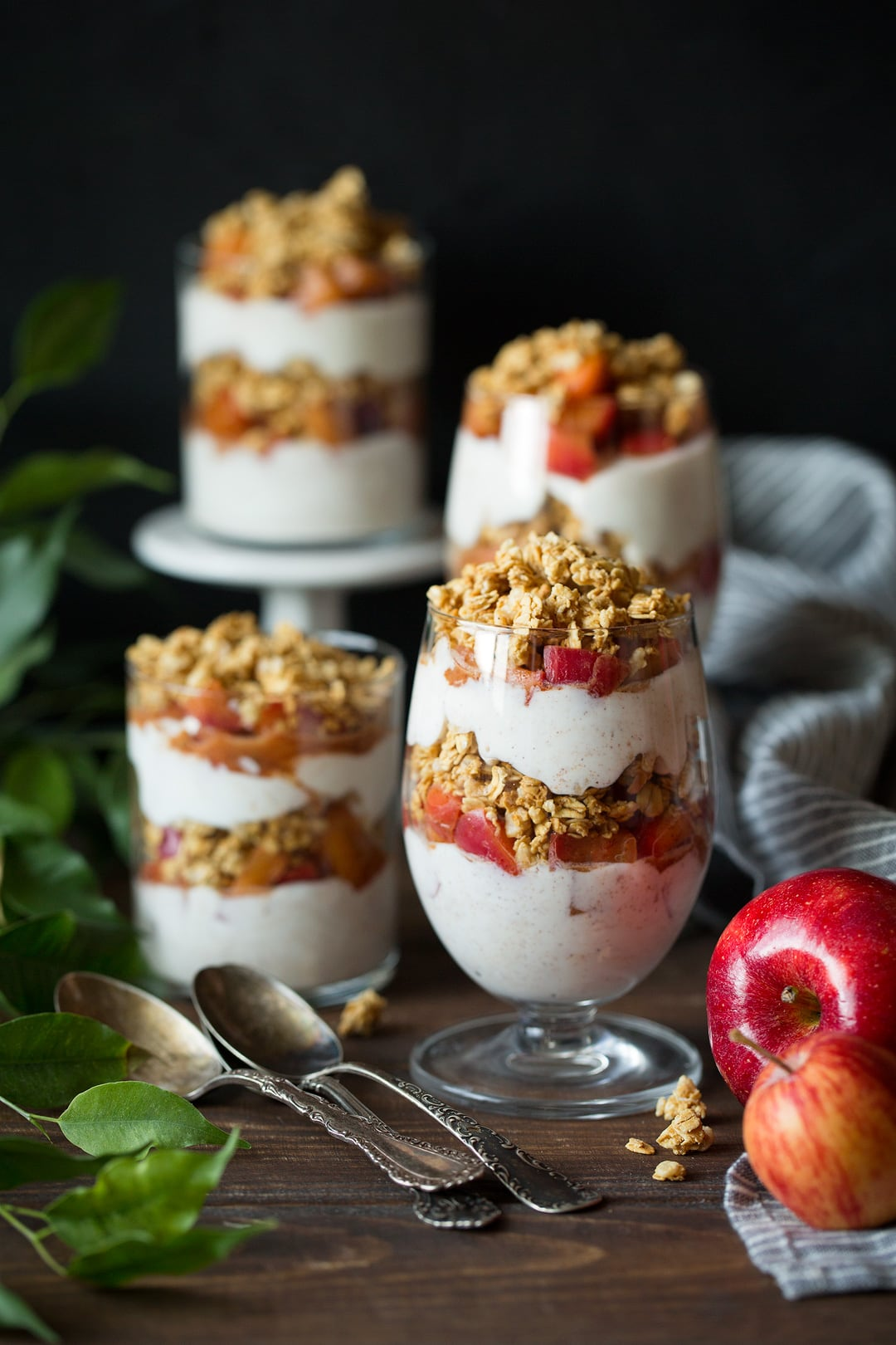 Apple Cinnamon Granola Parfaits