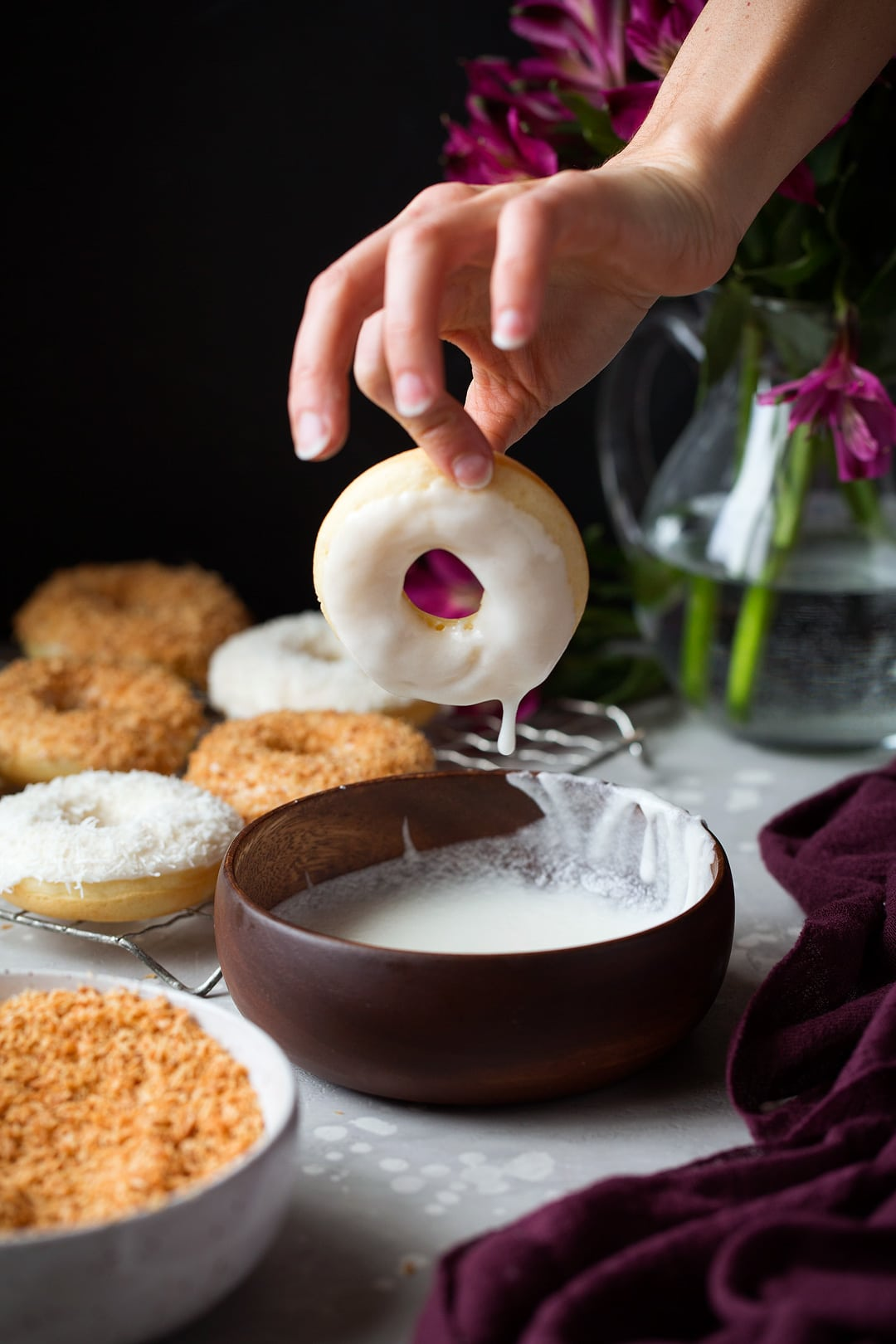 Baked Coconut Donuts