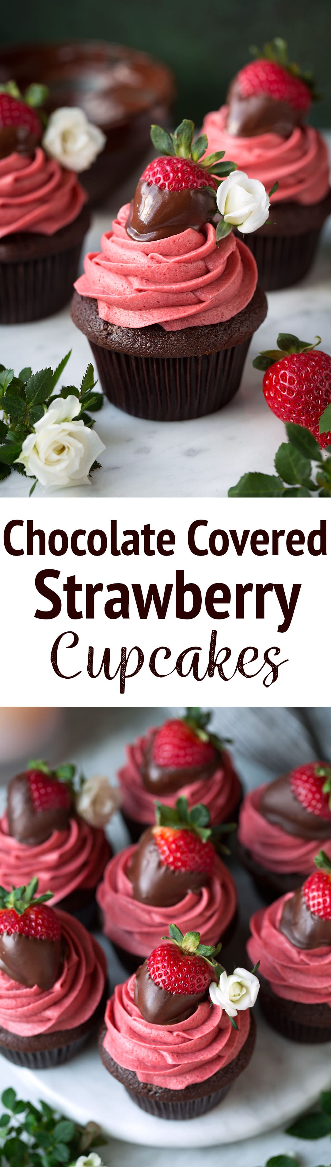 Chocolate Covered Strawberry Cupcakes - Cooking Classy