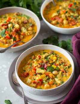 Curry Chicken and Quinoa Soup