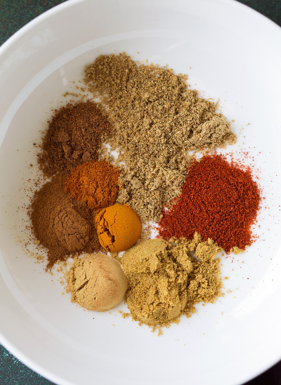Spices shown here in a bowl for Moroccan Spiced Salmon with Lemon Yogurt Sauce