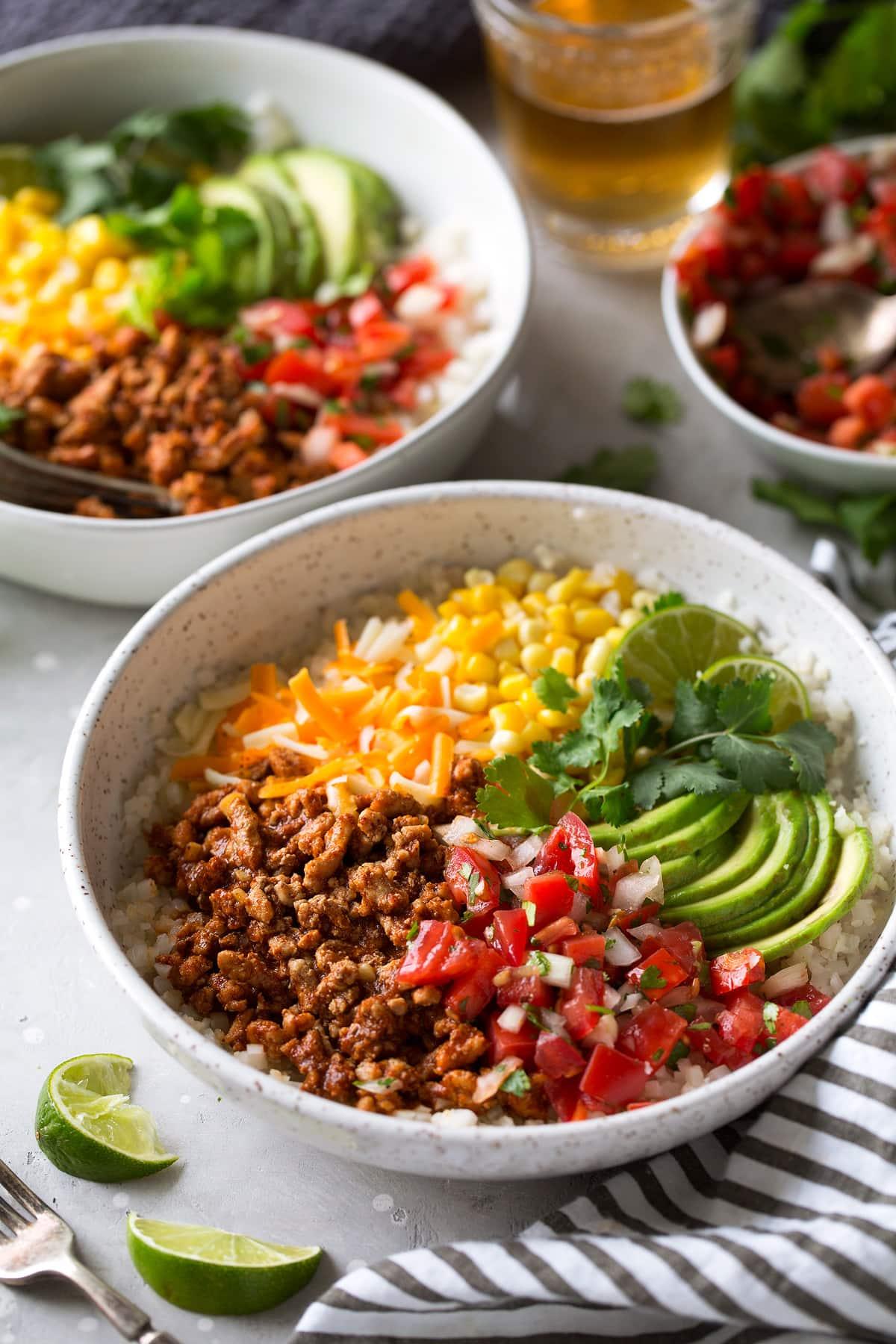 Turkey Taco Meal Prep Bowls