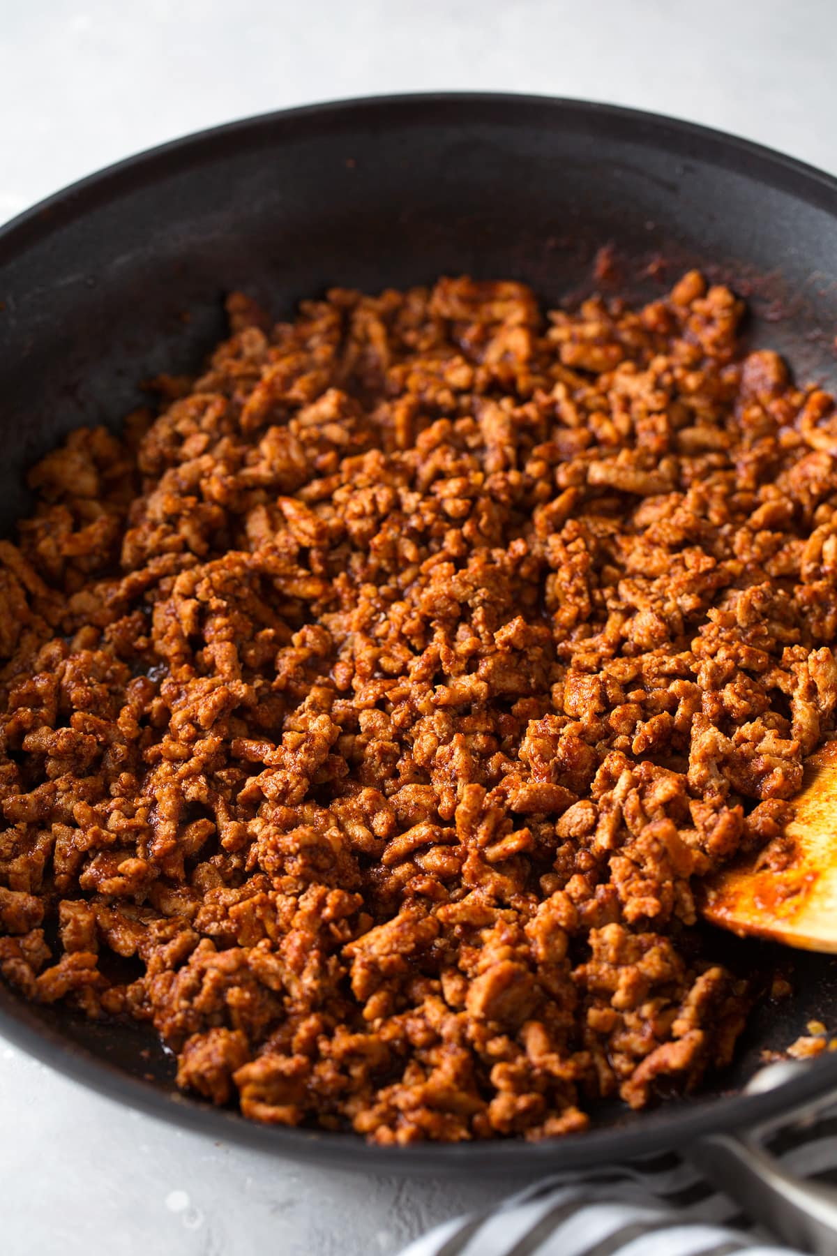 Taco Bowls ground turkey filling in large non-stick skillet