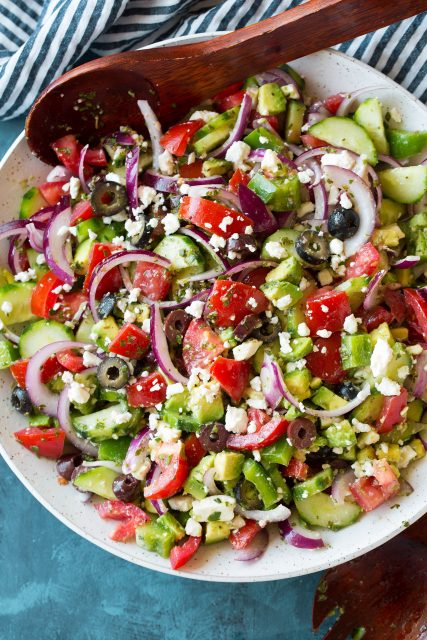 Best Greek Salad With Avocado Cooking Classy