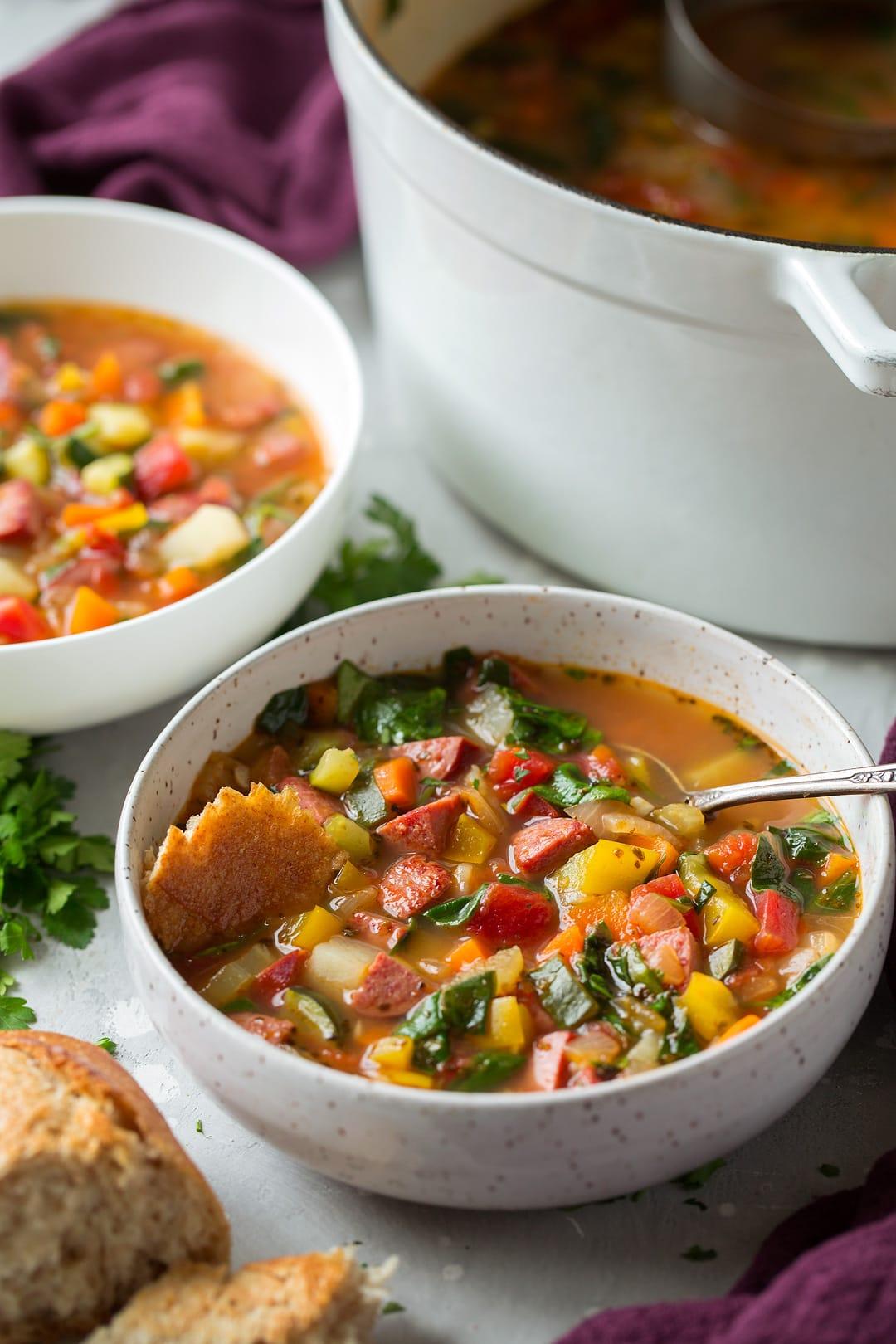 Smoked Sausage Vegetable Soup