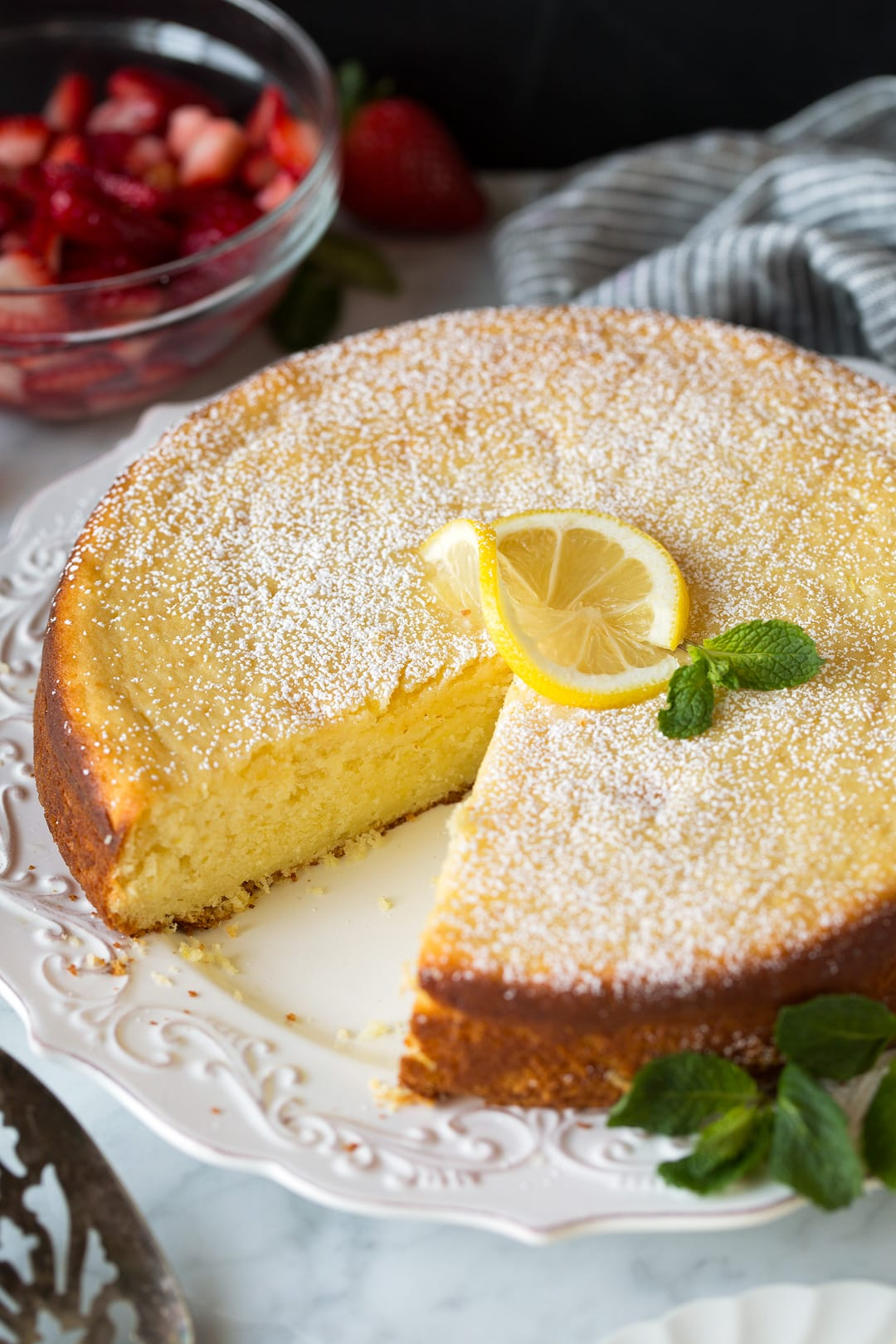 Lemon Blueberry Ricotta Pound Cake Recipe
