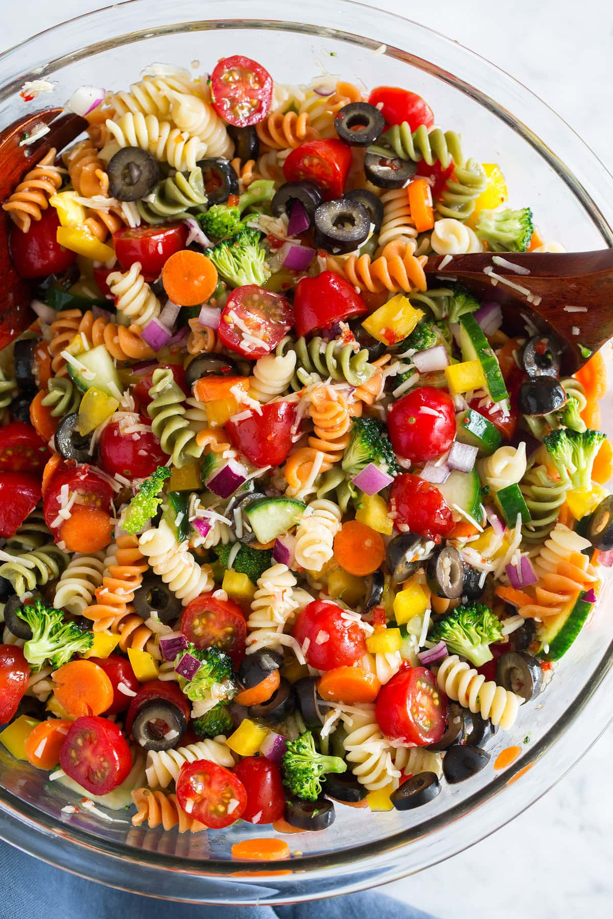 vegetarian Pasta Salad in a bowl