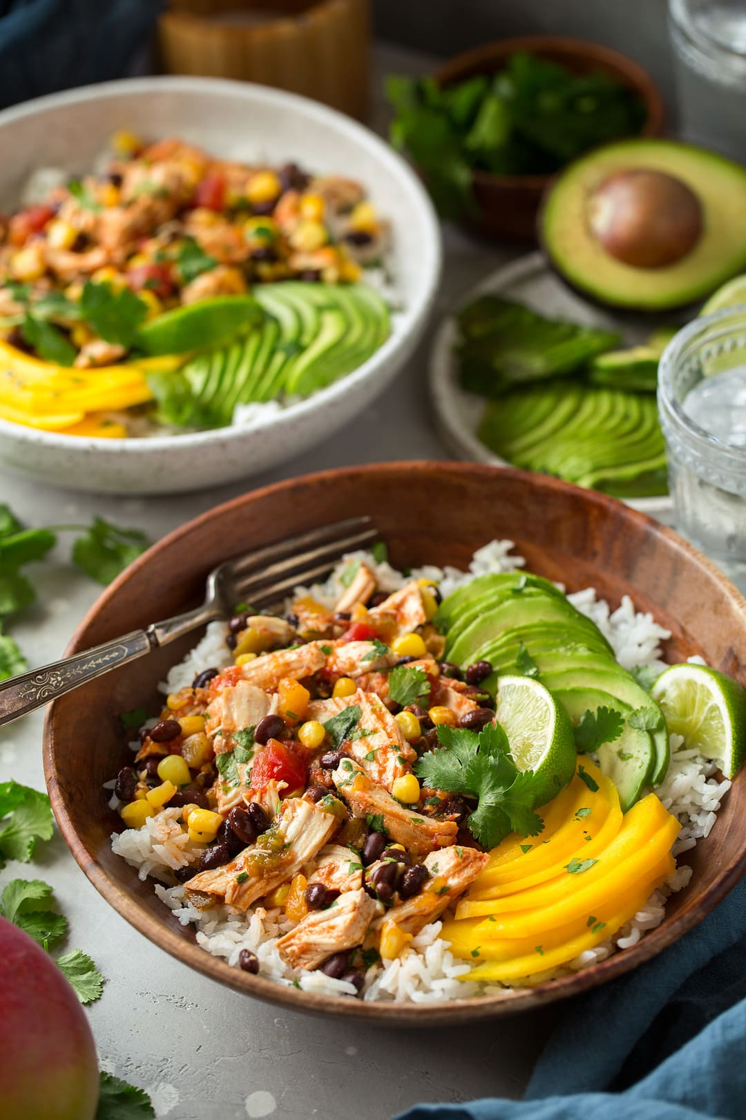 Slow Cooker Mango Salsa Chicken with Coconut Rice