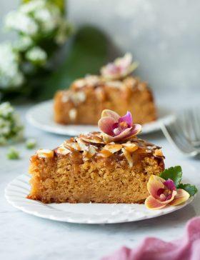 Caramel Soaked Almond Cake