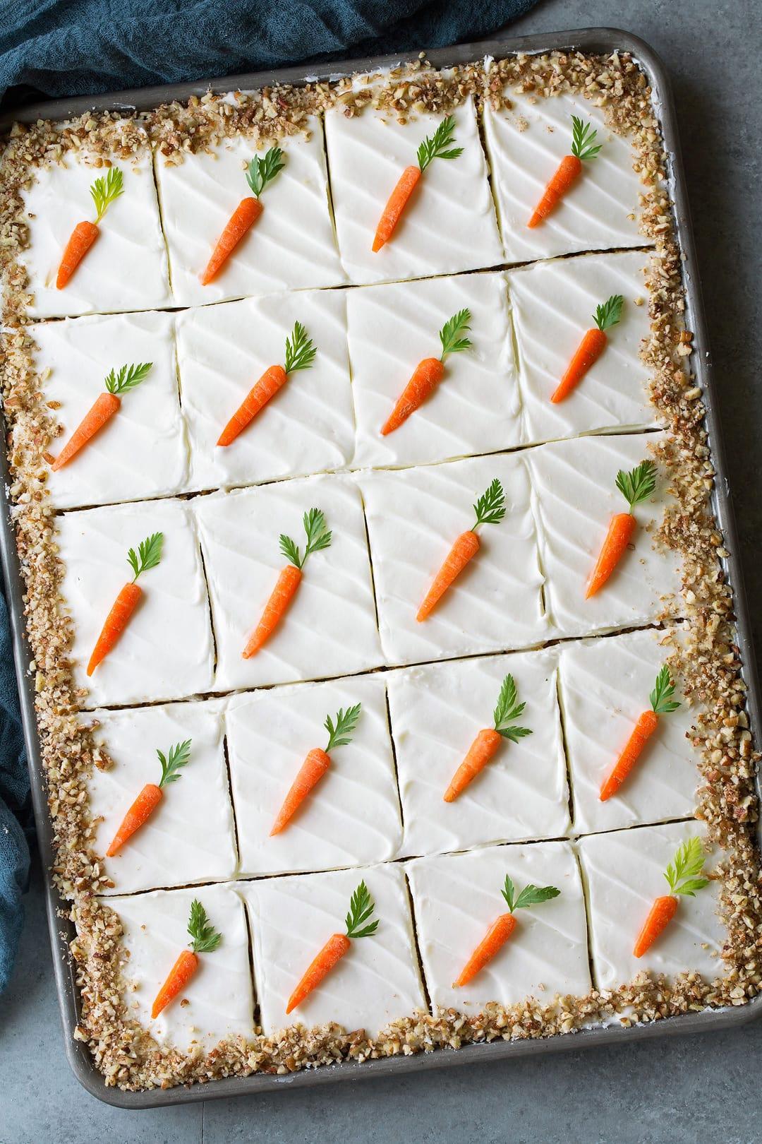 Carrot Sheet Cake - Cooking Classy